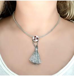 Submissive Day Collar Domina Necklace Bdsm Symbol Triskele Chain Pendant