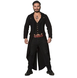 Mens Gothic Steampunk Victorian Tailcoat Jacket Coat