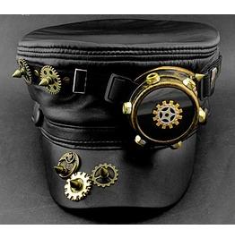 Men Steampunk Goggle Gear Hat