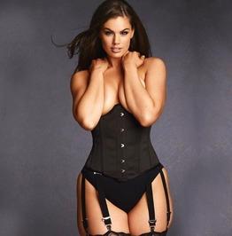 Plus Size Valentina Steel Boned Underbust