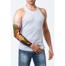 Jungle Parrot Unisex Tattoo Mesh Sleeve