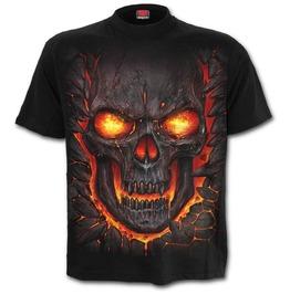 Skull Lava Kids T Shirt Black