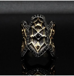 Gold Gothic Ring 01,Black&Gold [Medieval]Collection