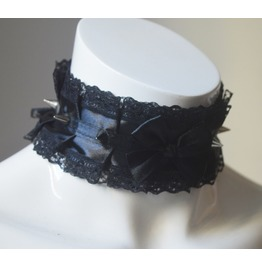 Gothic Collar Dark Soul * Vampire Choker With Spikes