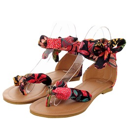 Boho Women's Scarf Lace Flat Sandals