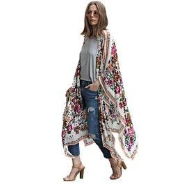 Boho Women's Cover Up Kimono Cardigan