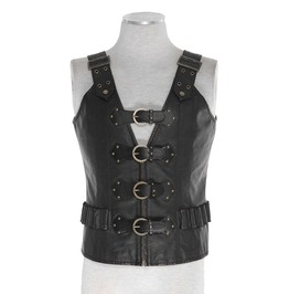 Punk Rave Y 724 Western Synthetic Leather Steampunk Post Apocalyptic Vest