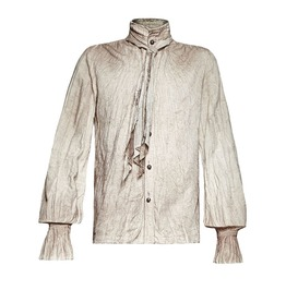 Punk Rave Y 714 Pirate Aged Ragged Beige Linen Steampunk Long Sleeve Shirt