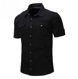 Goth Steampunk Military Men Shirt