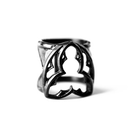 Countess | Ring In Black ~ Triquetra Gothic Double Ring | Trickery