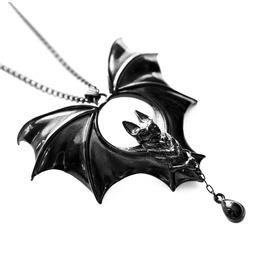 Noctem   Pendant In Black ~ Grand Vampire Bat Pendant   Trickery