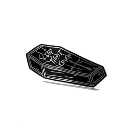 Coven Coffin | Enamel Pin ~ Black Vampire Coffin Pin | Trickery