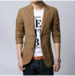 Slim Casual Fashion Blazer Jacket Outerwear Men