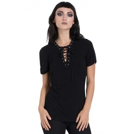 Jawbreaker Clothing Black Laced Up Fashion T Shirt