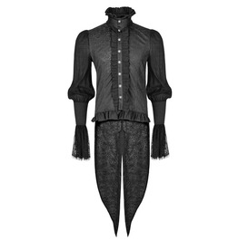 Punk Rave Y 739 Guipure Cuffs Swallow Tail Long Sleeve Baroque Goth Shirt