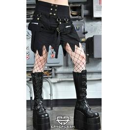 Rage Cybergoth Gothic Festival Black Skirt