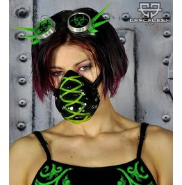 Cryoflesh Stitched Cybergoth Rave Uv Reactive Tube Mask