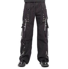 Men Gothic Pant Cyber Step Chain Jeans Punk Rock Bondage Gothic Pants