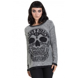 Jawbreaker Clothing Black Celtic Skull Sweater