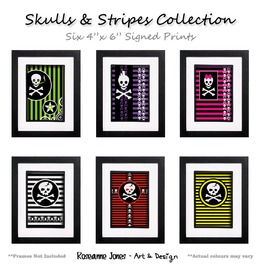 Skulls & Stripes Collection Signed Prints Roseanne J
