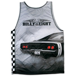 "Awesome Singlet Unique Billy Eight ""Bad Ass"" Muscle Car Vest Fitness Tank Top"