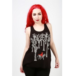 Little Red Riding Hood Black Tank Top