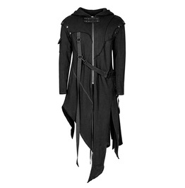 Punk Rave Y 745 Detachable Arms Convertible Black Cyber Goth Vest Hoodie