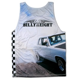 Billy Eight Awesome Muscle Car Vest Burnout Fitness Tank Top Unisex