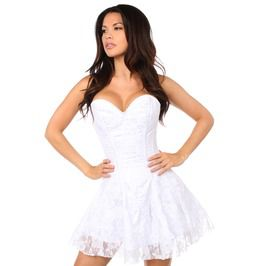 Lavish White Lace Corset Dress