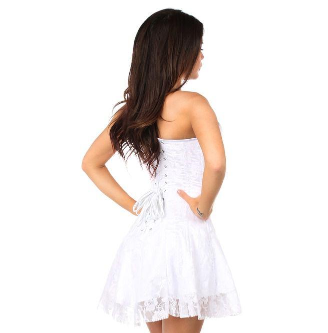 Lavish White Lace Corset Dress Daisy Corsets