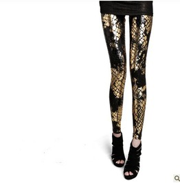 Fashion Fading Color Snake Skin Style Leggings