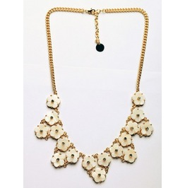 Cute White Floral Style Necklace Girls