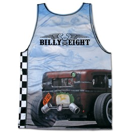 Billy Eight Tank Top Hot Rod Graphic Singlet For Men