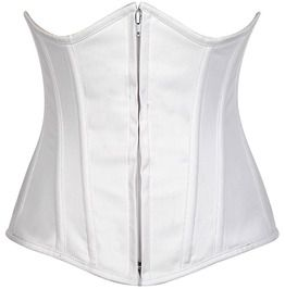 Lavish White Cotton Underbust Corset