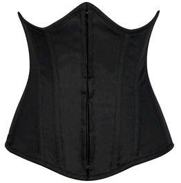 Lavish Black Cotton Underbust Corset