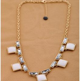 Vintage Unique Squre Fashion Necklace, Party Necklace