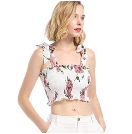 Women's Sexy Floral Printed Slip Crop Top