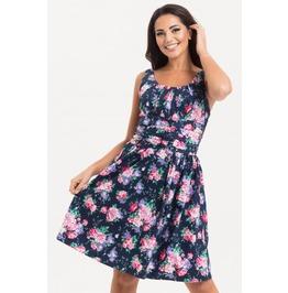 Voodoo Vixen Ethal Navy Floral Summer Dress