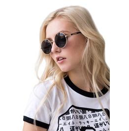Sunglasses Round Black Retro Classic Vintage Style Eyewear Cute Festival