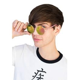 Vintage Round Mirror Sunglasses Retro Classic Vintage Style Festival Men's