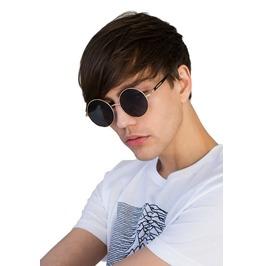 Sunglasses Round Black Retro Classic Vintage Style Eyewear Men's Festival