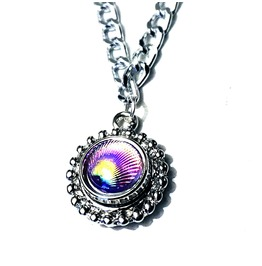 Bdsm Jewelry Submissive Day Collar Holographic Chain Necklace Psychedelic