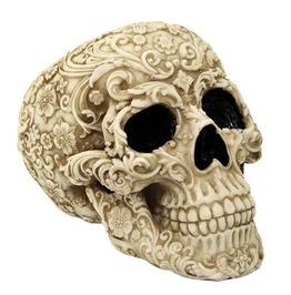 Floral White Skull