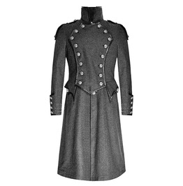 Punk Rave Y 704 Victorian Evening Breasted Gray Mixed Wool Steampunk Coat