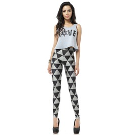 Gothic Geometric Style Print Leggings Pants