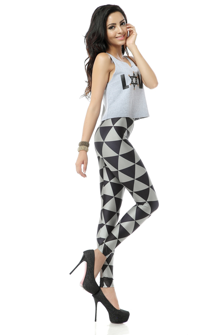 gothic geometric leggings