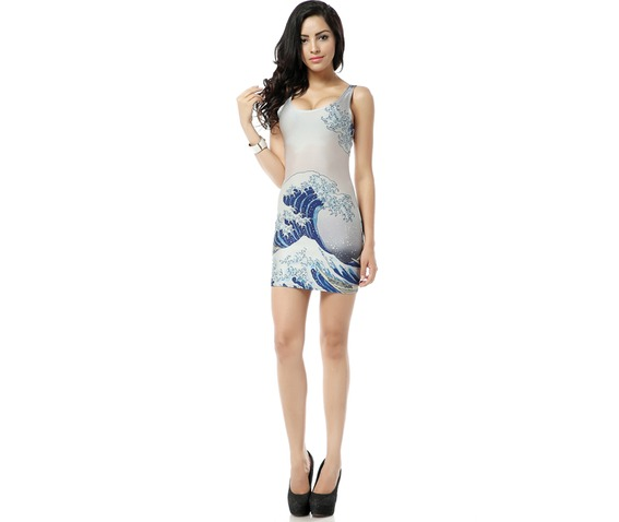 beautiful_wave_print_white_bodycon_dress_tank_tops_dresses_3.jpg