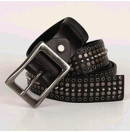 Unisex's Rivet Hollow Out Deco Faux Leather Belt