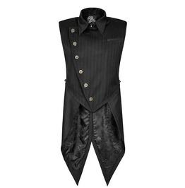 Punk Rave Y 763 Bronze Lion Buttons Pinstripe Steampunk Long Tail Vest