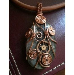 """Insouciant Intertwingularity"" Steampunk Pendant"